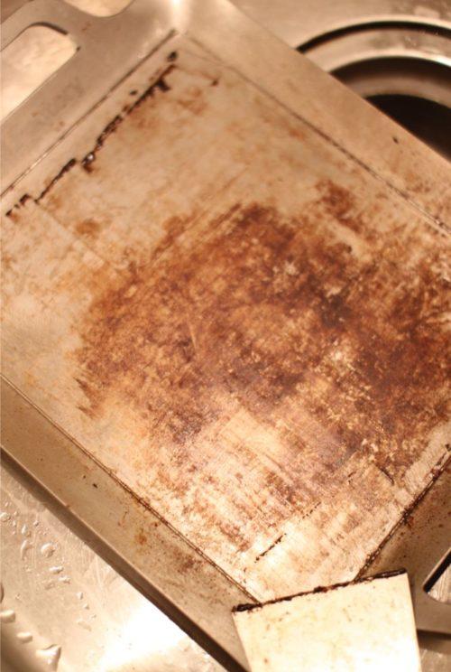 極厚鉄板の洗い方