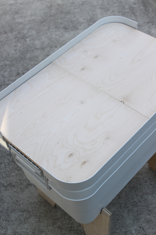 無印頑丈ボックスにぴったりな天板と脚